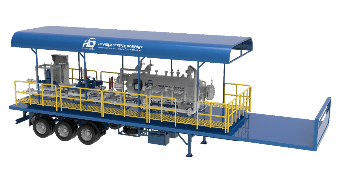 Mobile Test Separator with ESD and Choke Manifold on energyhub