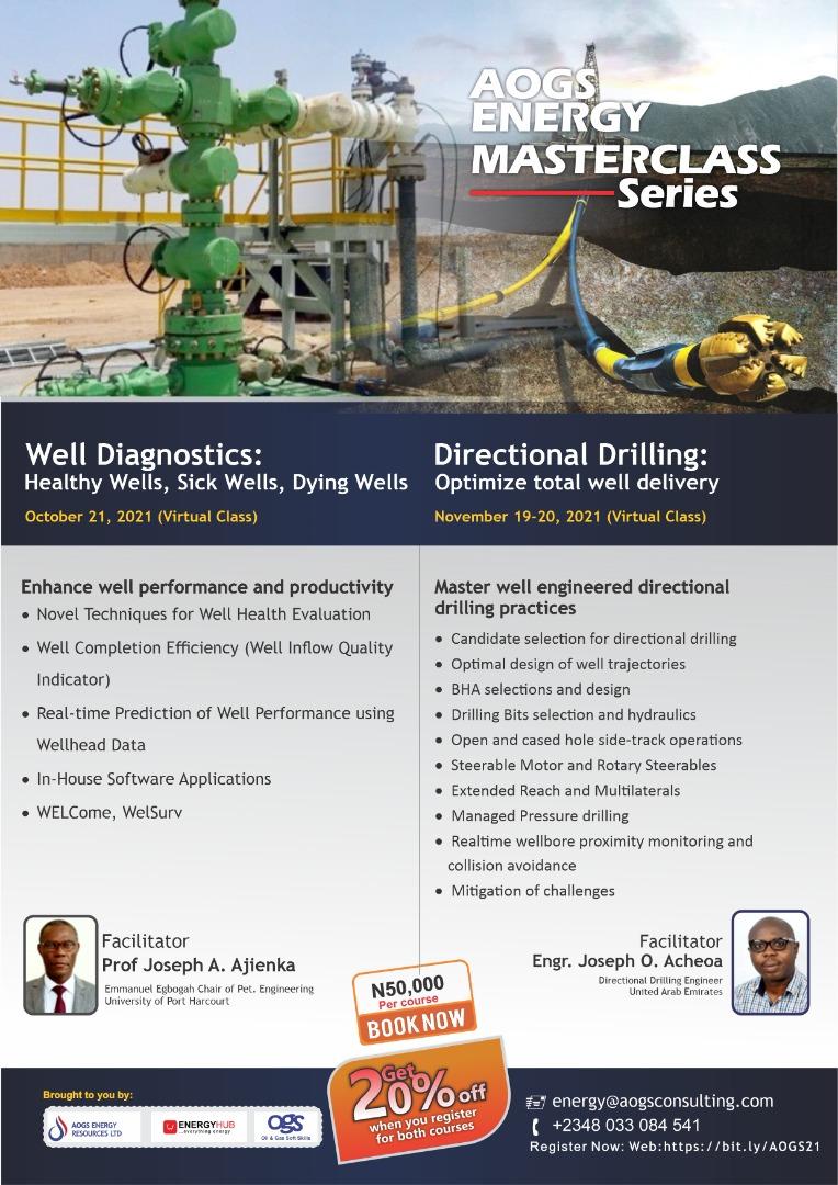 Register for October & November Well Diagnostics & Directional Drilling Classes